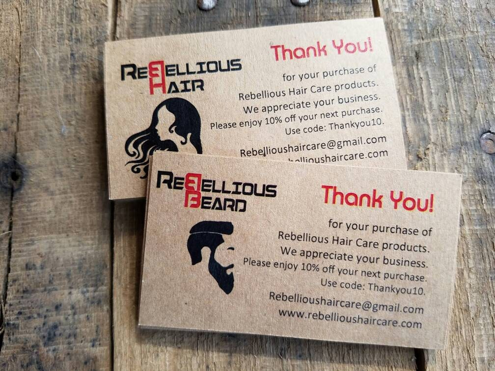 Custom Hair Nail Salon Beauty Salon Thank You Cards Promo