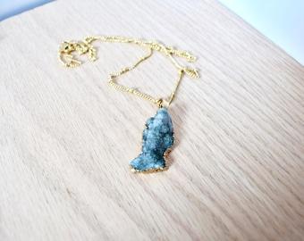 Rock Druzy Natural Gemstone Necklace