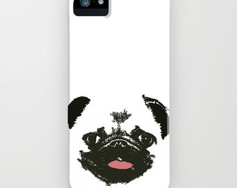 Pug Dog on Phone Case - Pug Gifts, iPhone 6S, iPhone 6 Plus, Gifts for Pet Lovers, Samsung Galaxy S7, Dog Gifts , iPhone 8