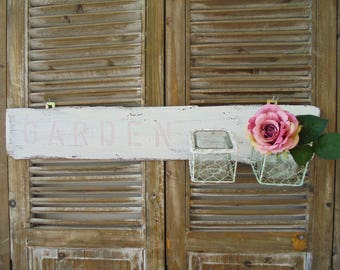 Wall Board Shabby Chic garden unique wall decoration wall vases wall Board