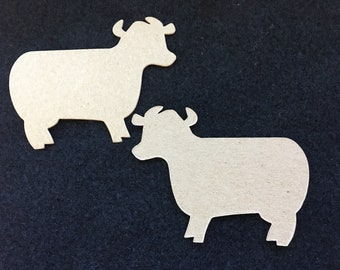 Cow Blanks-DIY Chipboard-Alterable Large Chipboard Cow-Decor-Unfinished-Party Decor-Kids Birthday Crafts-Planner Accessories-Cupcake Toppers