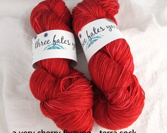 a very cherry fluevog - terra sock, fingering weight sock yarn