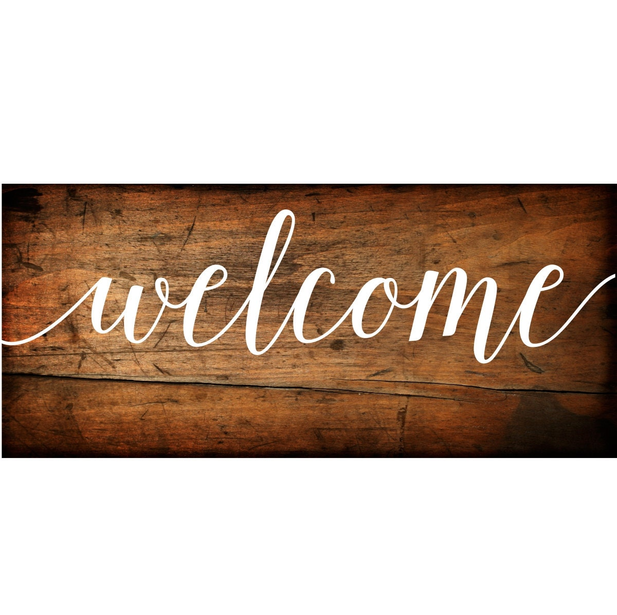 Welcome Sign Vinyl Decal DIY Wood Signs Wedding Welcome