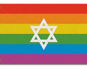 Jewish LGBTQ Pride Flag