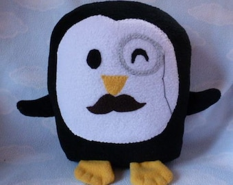 Plush Mr. Penguin Pillow Pal, Baby Safe, Machine Wash and Dry