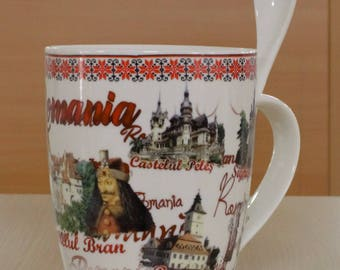 Ceramic Mug with Count Dracula - Romania