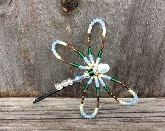 Dragonfly Hair Pin, Dragonfly Bobby Pin, Butterfly Bobby Pin, Beaded Hair Pin, Butterfly Hair Pin, Beaded Bobby Pin, Pearl Bobby Pin