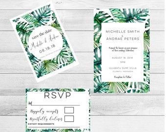 Destination Wedding Invitation suite-wedding Invitation-destination wedding-wedding Invitation-invitation set-tropical wedding-tropical