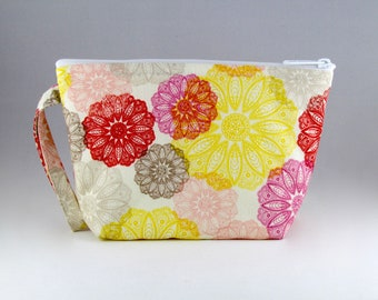 Flowers on Flowers Makeup Bag - Accessory - Cosmetic Bag - Pouch - Toiletry Bag - Gift