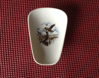 """Ceramic Spoon Rest with  pelican 5"""" Long Top of Spoon 3 1/2 Wide"""