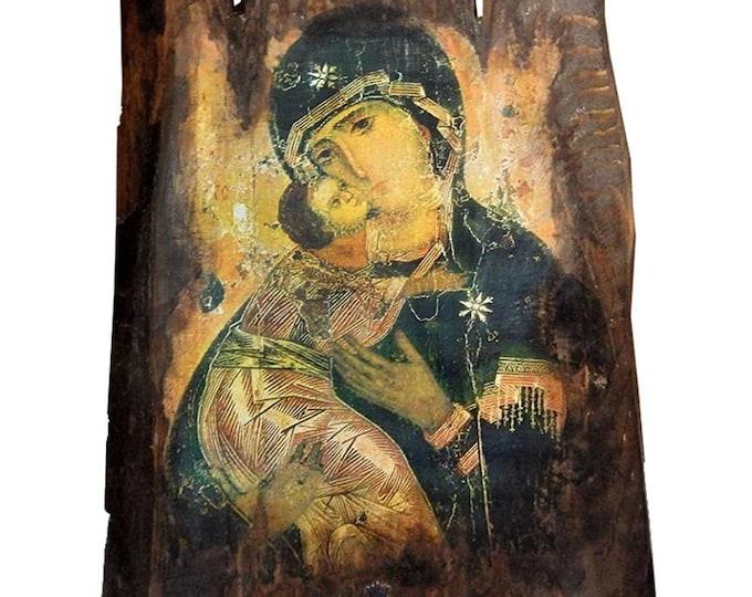 Custom made Orthodox icon,Virgin Mary ,Religious icon,Vintage Orthodox icon of Mary Mother of God,Madonna ,Byzantine icon