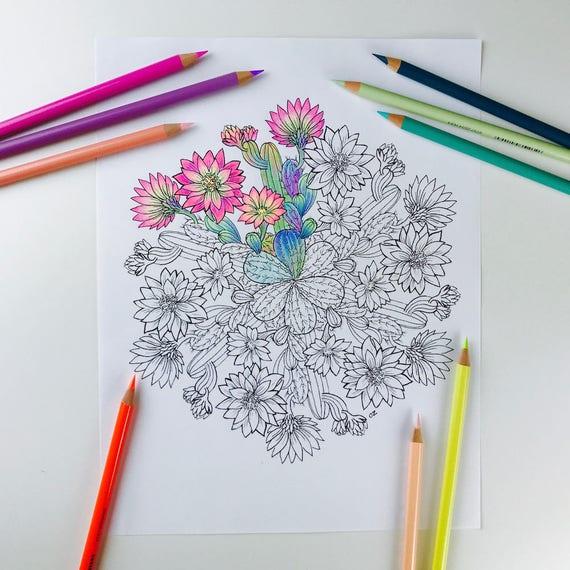 Großzügig Kaktus Blume Malseite Fotos - Dokumentationsvorlage ...