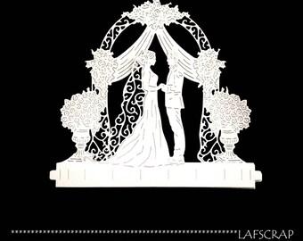 Cuts scrapbooking scrap marriage married wedding Arch border cutting paper die cut creation