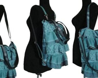 Ready-to-Ship / Convertible BACKPACK / 4 ways-to-wear/carry: Bakpack; MESSENGER bag; Shoulder bag; TOTE bag / Diaper bag - Waterproof lining