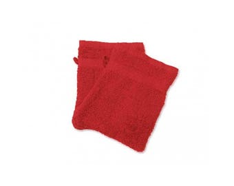 Cotton washcloth towel Red