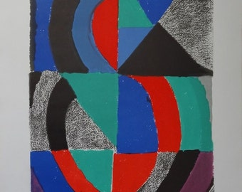 Sonia DELAUNAY: UNESCO - International Women's Year, Original Signed Lithograph - 1975