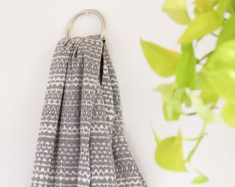 Blue & Brown Handwoven cotton Ring Sling Baby Carrier. High Quality traditional Rebozo.