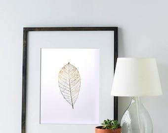 Gold Leaf - Foil Art Print