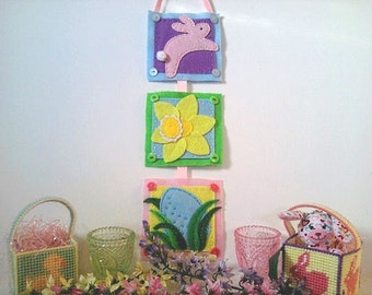 Celebrate Spring, Embroidered Felt Wall Hanging