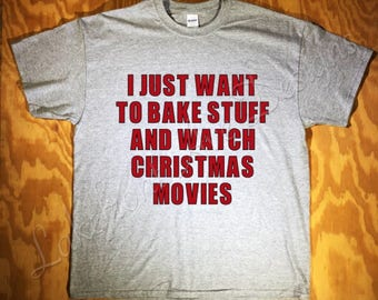 Bake & Christmas Movies Tee