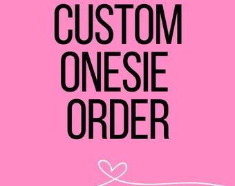custom onesie // baby onesie // boy onesie // girl onesie // personalized onesie // baby shower gift // new baby gift // new mom gift //