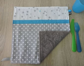 "napkin ""grey blue"" reversible cotton Terry"
