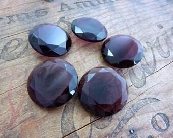 Vintage Rhinestone Faceted Amethyst Large Glass Rhinestone (1)