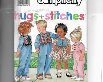 Simplicity Toddlers' Dress and Jumpsuit Pattern 9795
