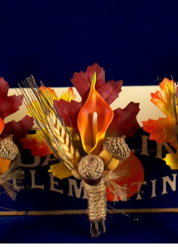 Fall cala lilly boutonniere