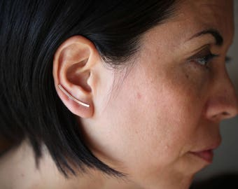 READY TO SHIP Line up .Ear cuff. silver or gold vermeil  earring. Ear climber