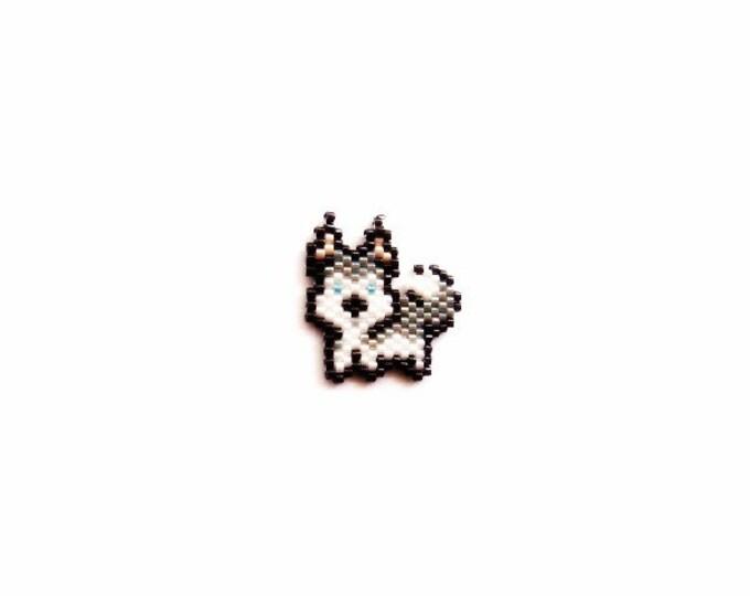 Husky Dog, Full Body, Brick Stitch Bead PATTERN | Printable Digital Download
