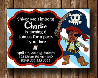 Pirate Birthday Party DIY Digital Printable Invitation