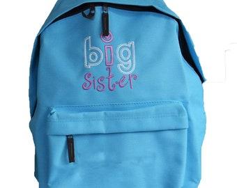 Big Sister Backpack Personalisation Free