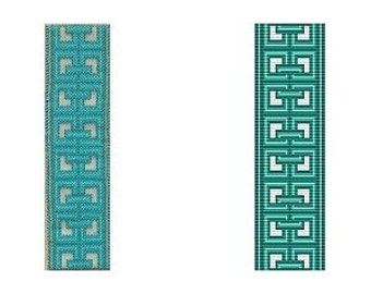 Loom or 1 Drop Odd Peyote Bead Pattern - Chinese Celtic Cuff Bracelet