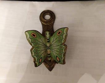 Vintage Allied Brass Co. Butterfly Wall/Desk Clip