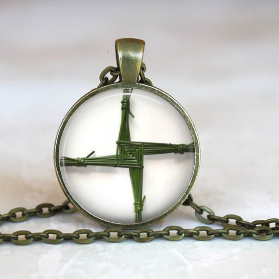 Saint Brigid's Cross Pendant - Catholic Jewelry, Catholic Necklace