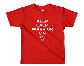 Warrior On CHD Awareness Short Sleeve Kids t-shirt