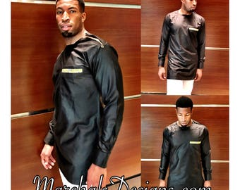 The Ankara Log Shirt Zipper Shoulder