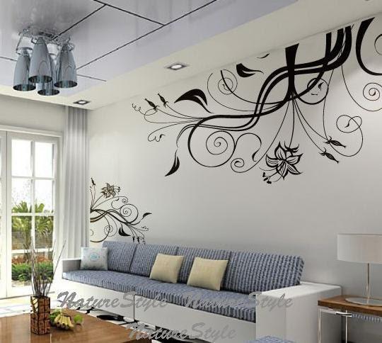 Nursery wall decal vinyl wall decals flower wall sticker decal - Objetos para decorar paredes ...