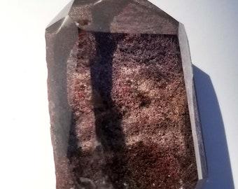 Scenic Quartz Crystal Point - Lodolite, Lodalite, or Garden Quartz, Inclusion Quartz