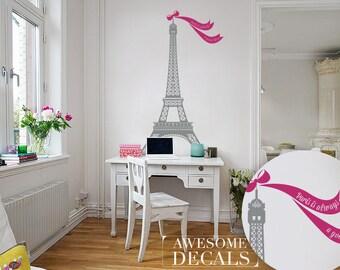 Eiffel tower decal / Nursery wall decor / Eiffel tower decor / playroom wall decor