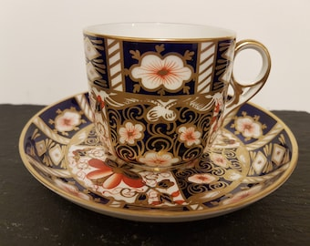 Royal Crown Derby Small Cup And Saucer Imari Pattern 2451~ Dated 1939