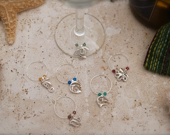 Silver finished Wine Glass Charms