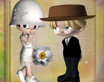 Flappers 2 (couples with flowers)
