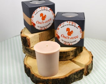 Chickaree-candle Votive scent squirrel - natural wax