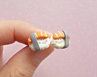 Sushi Earrings - Food Earrings - Sushi Stud Earrings - Sushi Jewelry - Sushi Lover Gift - Sushi Gift -