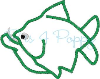 instant download piranha applique design