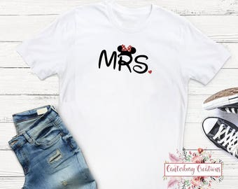 Mrs. Disney Bride Shirt   Disney honeymoon matching disney disney shirts disneymoon honeymoon disney bride disney groom disney wedding