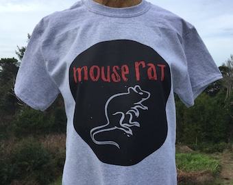 ON SALE - Mouse Rat Band Tshirt from Parks and Recreation - Adult sizes - fun Tv Chris Pratt Andy Dwyer Leslie Knopp knope -436