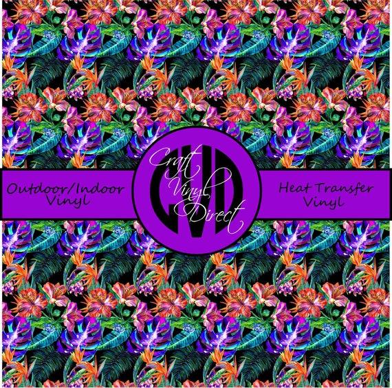 Tropical Patterned Vinyl // Patterned / Printed Vinyl // Outdoor and Heat Transfer Vinyl // Pattern 747
